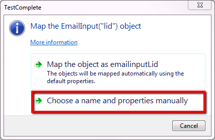 Map Object and Properties Automatically In TestComplete