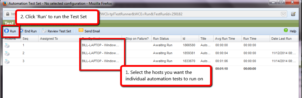 Select Host in QAComplete
