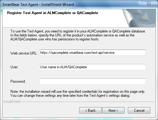 Connecting the Test Agent in QAComplete