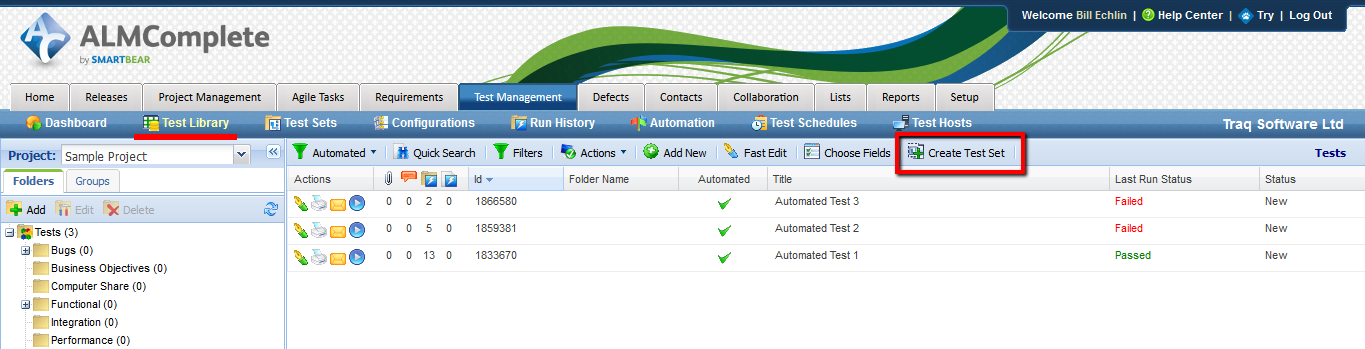 Create Automated Test Set in QAComplete