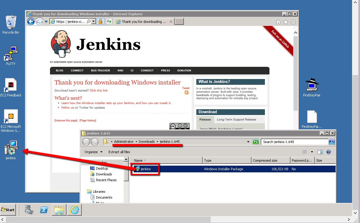 BTS-module2-extract-Jenkins-installer