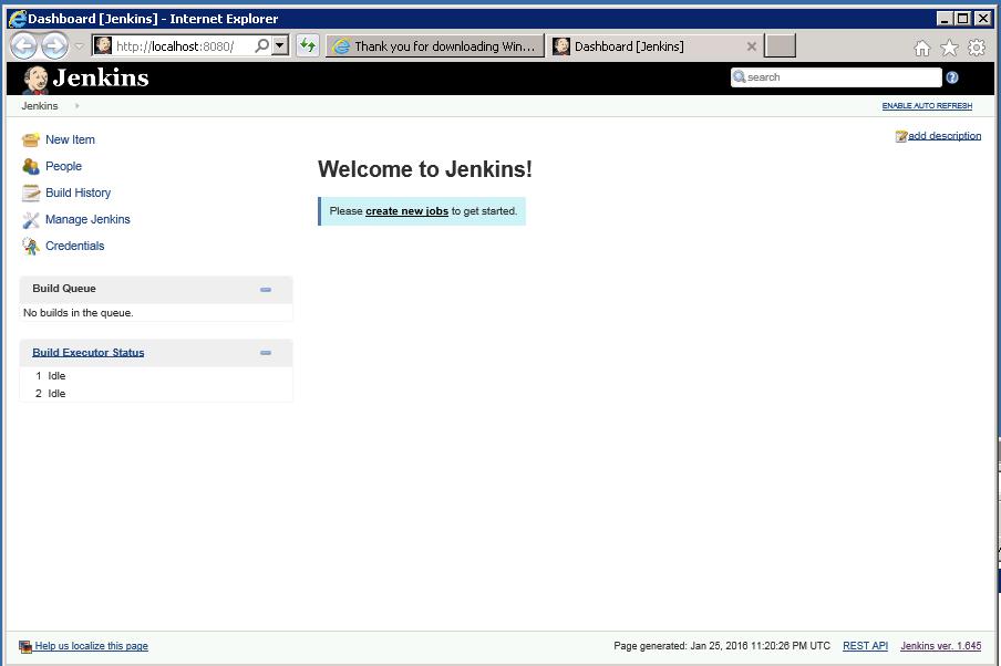 Jenkins-home-page