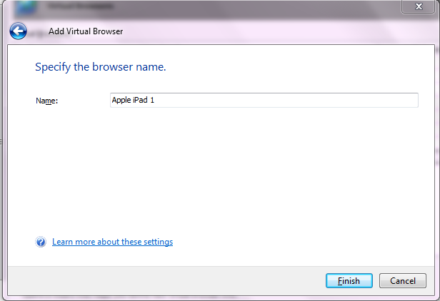 Specify The Browser Name