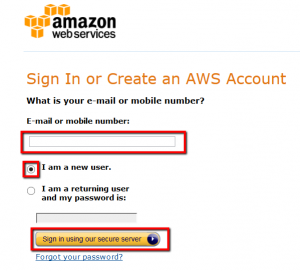 AWS Sign up