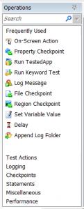 TestComplete Operations Panel