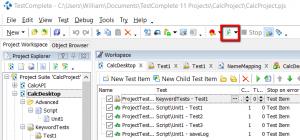 testcomplete project run