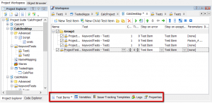 testcomplete project tabs