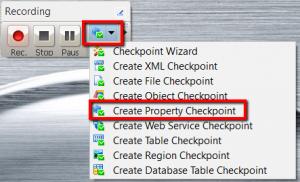 testcomplete property checkpoint