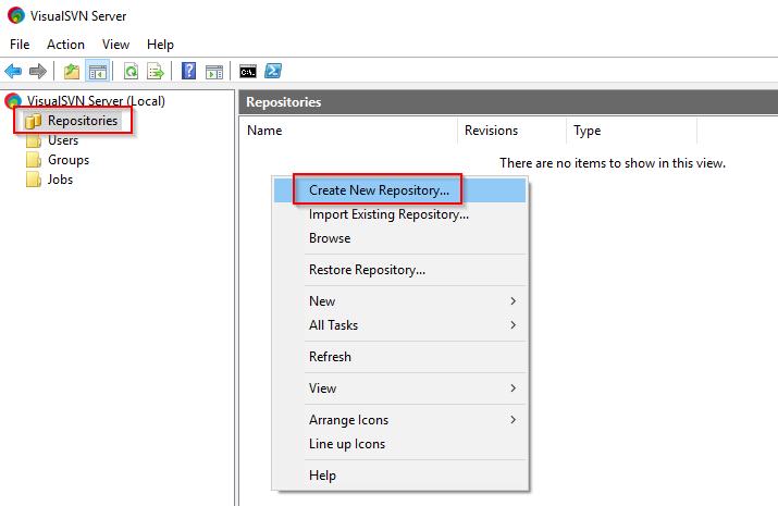 Visual SVN Server Create Repo