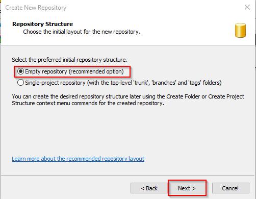 Visual SVN Server Create Repo 4