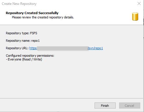 Visual SVN Server Create 6th Repo