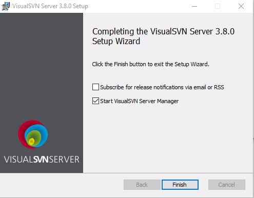 Visual SVN Server Start