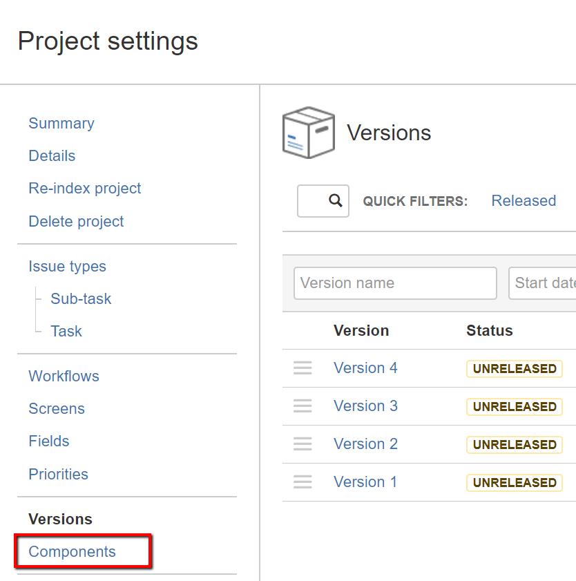 Jira Basics – Module 5: Versions & Components - Test Management