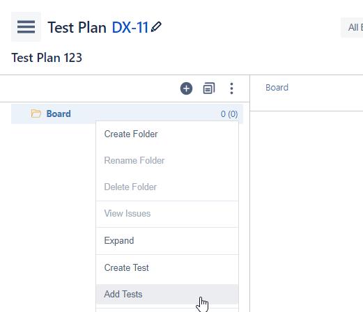XRay Add Test to Plan