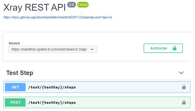 XRay API Swagger