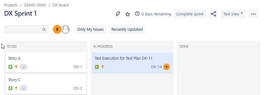 XRay execution on board