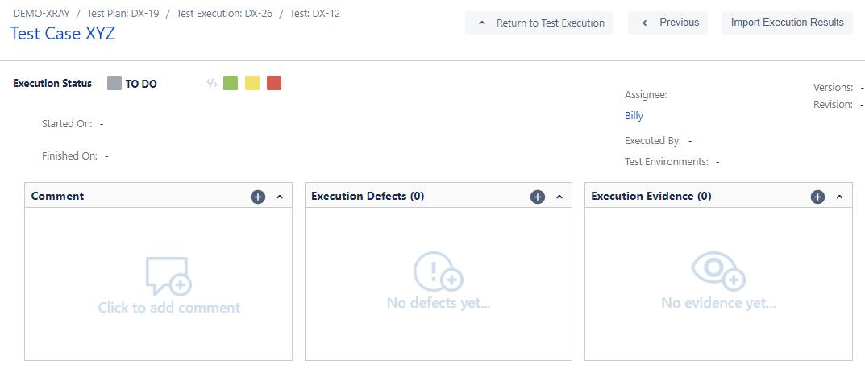 XRay Execution Status