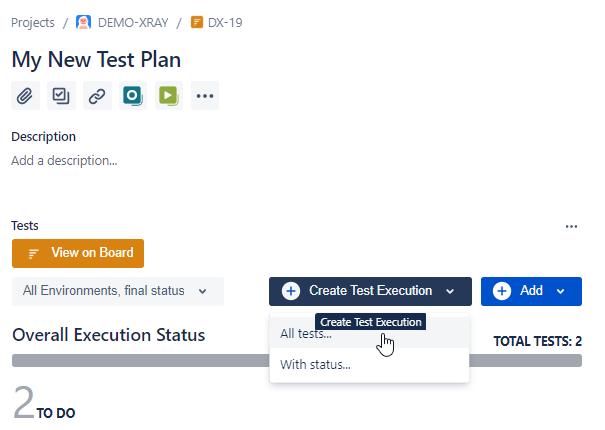XRay Test Plan Exeuction
