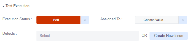 Zephyr for Jira Execution status