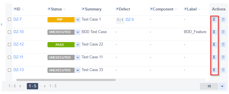 Zephyr for Jira Execution